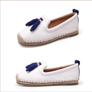 NEW- Adorable Espadrille Flat with Tassel  Accent